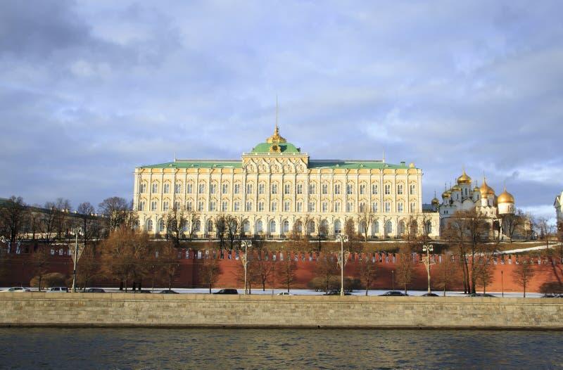 Widok Uroczysty Kremlowski Pałac fotografia stock