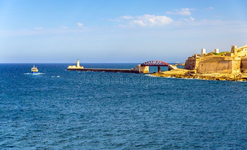 Widok Uroczysty schronienie falochron w Valletta obraz royalty free