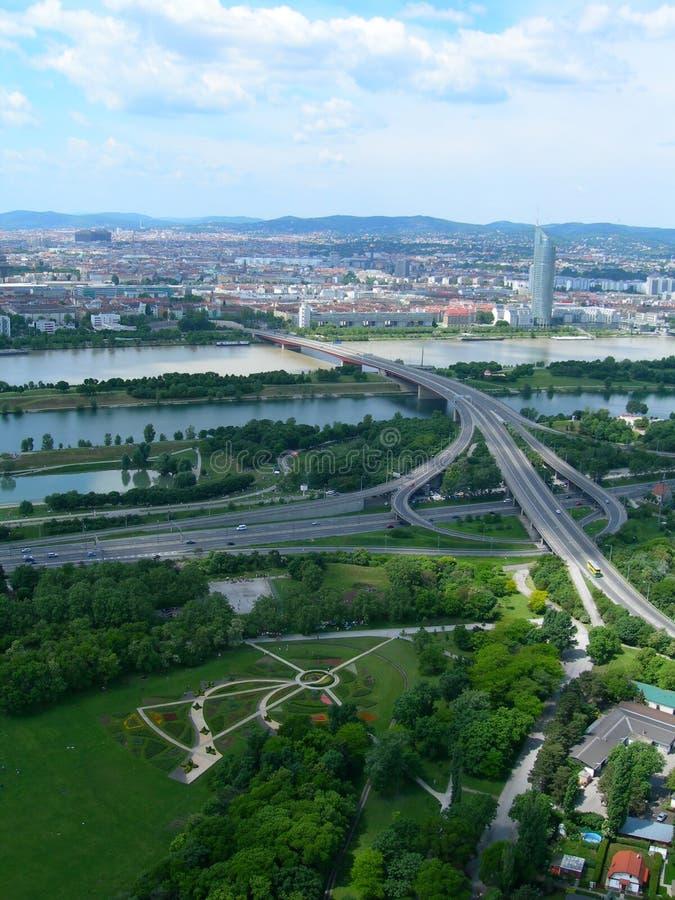 widok Vienna powietrznej Austria obrazy stock