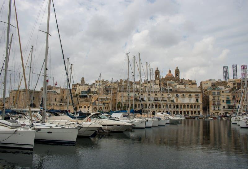 Widok Vittoriosa, Malta fotografia stock