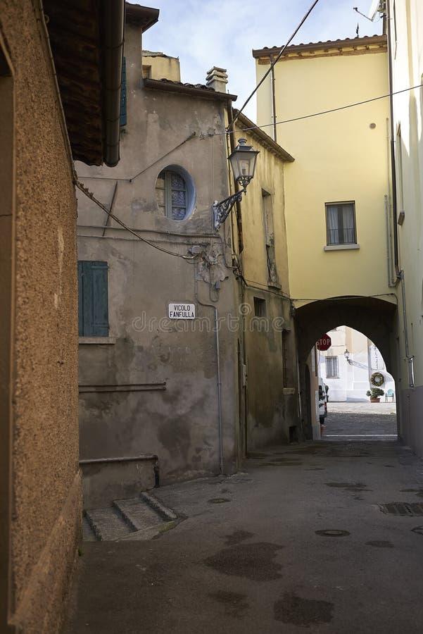 Widok wąskie ulicy obrazy stock