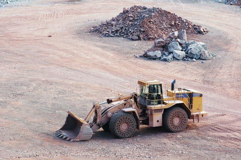 Widok w łup kopalnię porfir skała zdjęcia stock