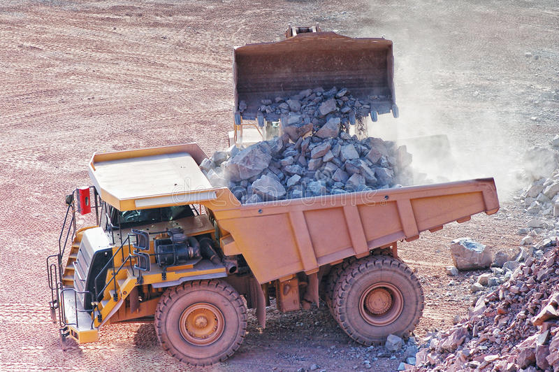 Widok w łup kopalnię porfir skała obrazy stock