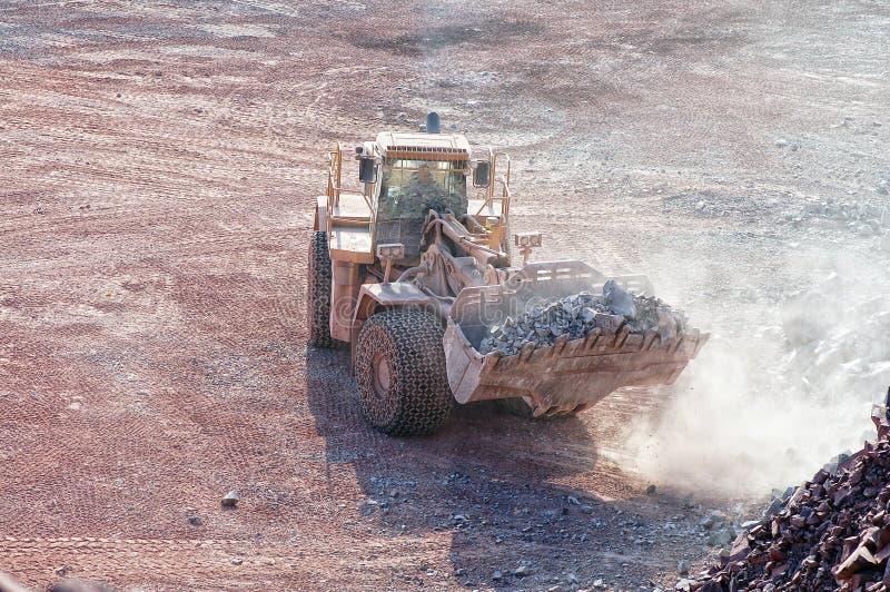Widok w łup kopalnię porfir skała obraz stock