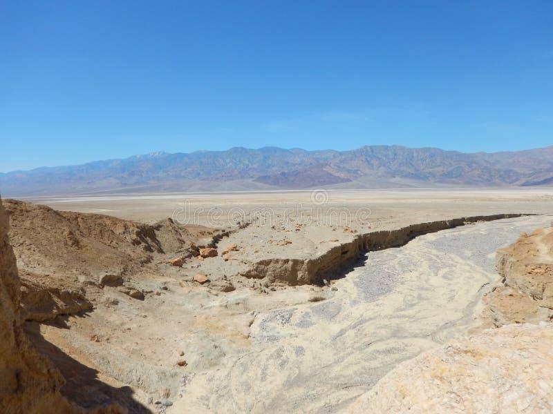 Widok w Śmiertelnej dolinie zdjęcie royalty free