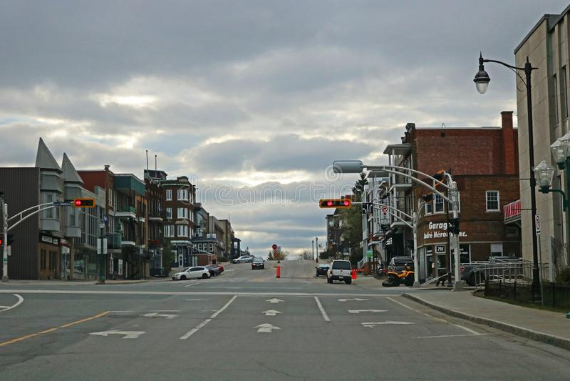 Widok W centrum Shawinigan, Quebec fotografia stock
