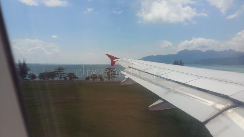 Widok w czasie lądowania zdjęcie stock