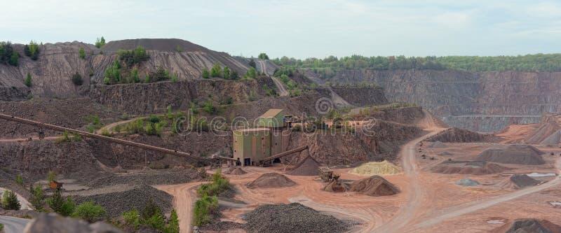 Widok w porfir kopalni łup zdjęcie stock