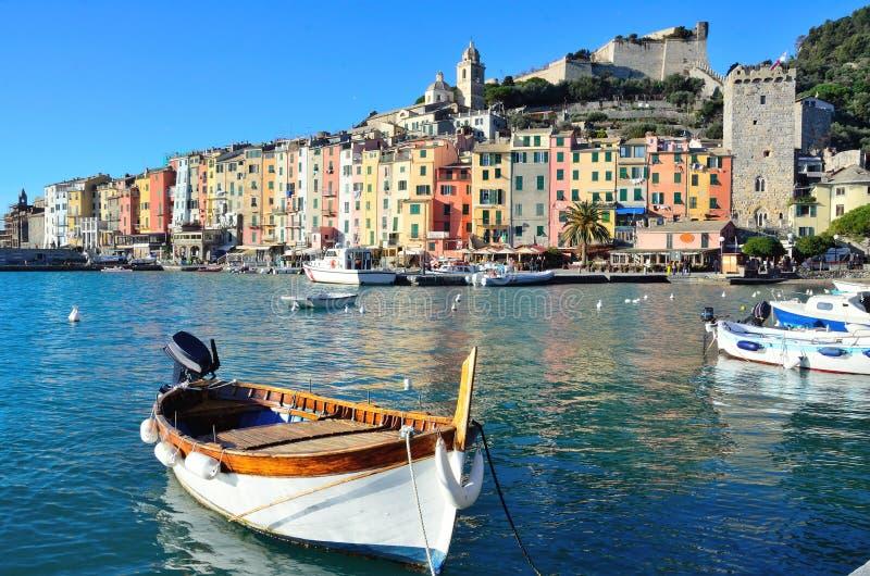 Widok w Portovenere, Włochy zdjęcia royalty free