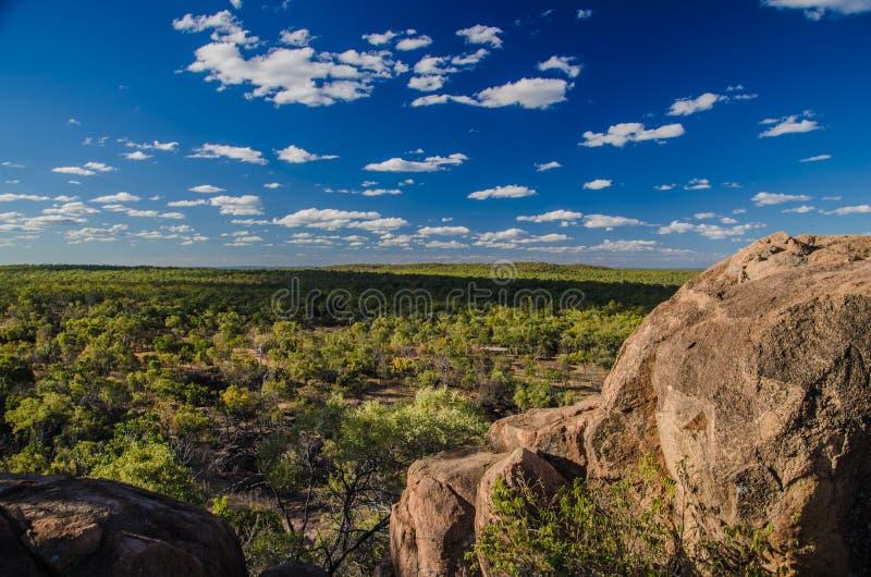 Widok w Undara Powulkanicznego parka narodowego, Queensland, Austral zdjęcie royalty free