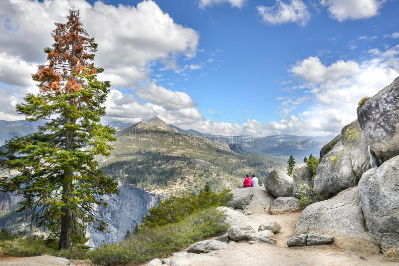 Widok w Yosemite NP obraz stock