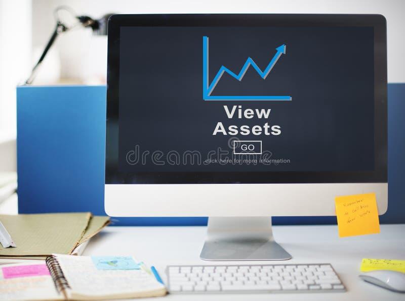 Widok wartości handlu waluty nieruchomości Biznesowy pojęcie obraz stock