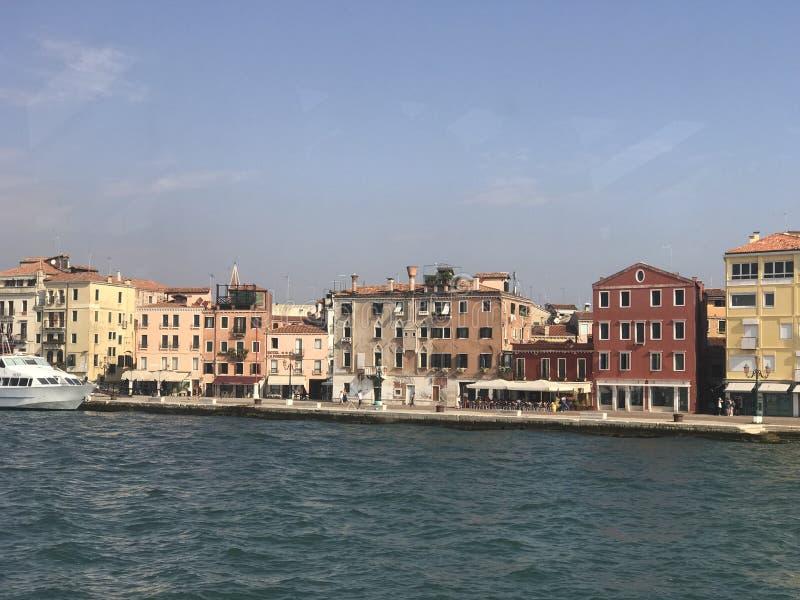 Widok Wenecja od statku obraz royalty free