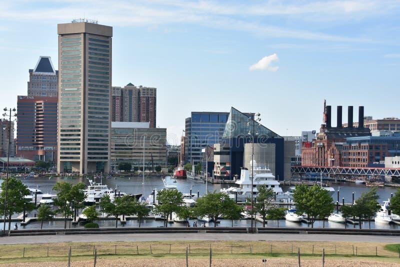 Widok Wewnętrzny schronienie w Baltimore, Maryland fotografia stock