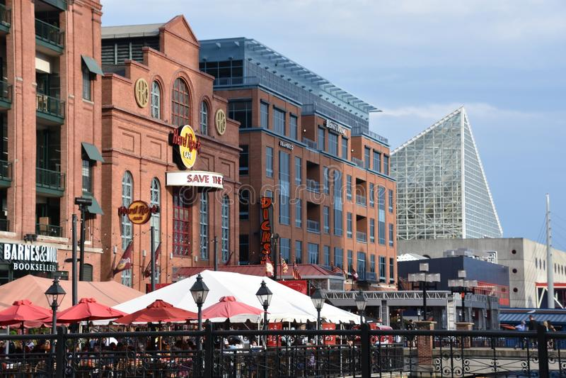 Widok Wewnętrzny schronienie w Baltimore, Maryland zdjęcie stock
