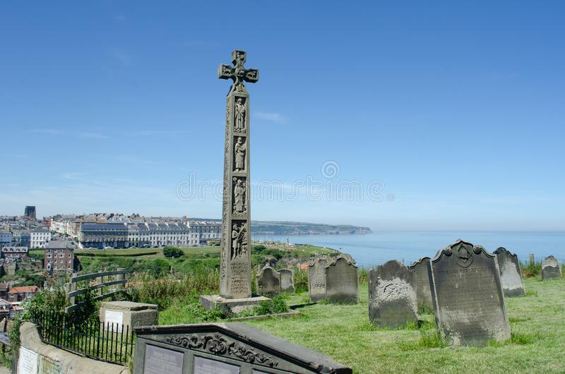 Widok Whitby od kościół St Maryjny ` s fotografia royalty free