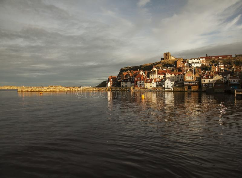 Widok Whitby, Yorkshire, Anglia obrazy royalty free