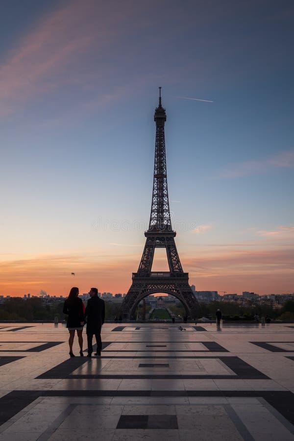 Widok wieża eifla od Palais De Chaillot, Paryż, Francja zdjęcie stock