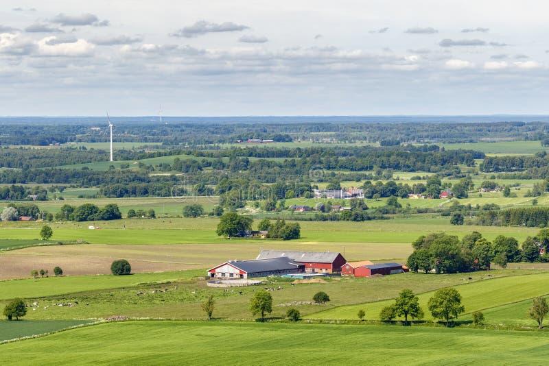 Widok wiejski krajobraz zdjęcie royalty free