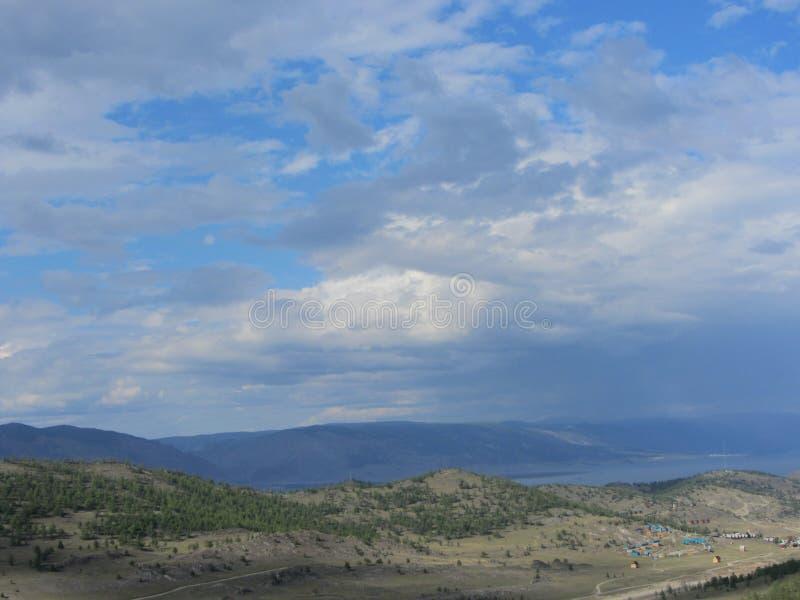 Widok wioska na brzeg zdjęcia royalty free