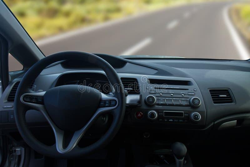 Widok wnętrze nowożytny samochód obrazy royalty free