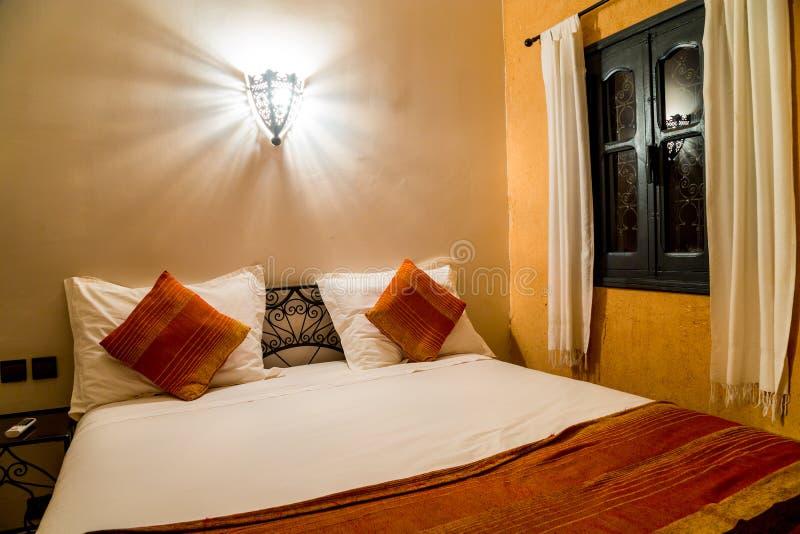 Widok wnętrze typowy orientalny pokój przy Hotelowym Chez Le Pacha obraz stock