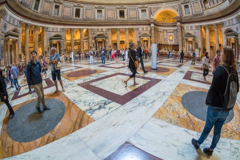 Widok wn?trze panteon, Rzym, W?ochy zdjęcia royalty free