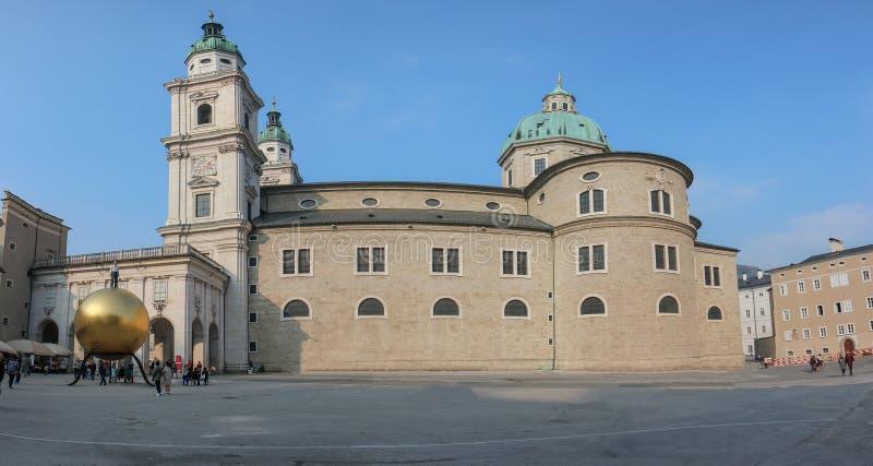 Widok wzdłuż miasta SALZBURG, AUSTRIA obraz stock