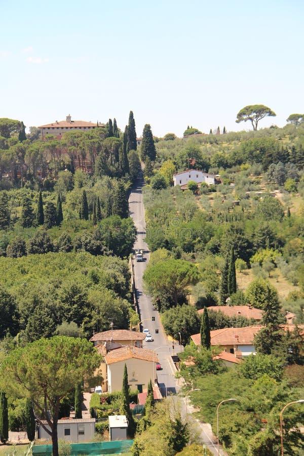 Widok wzgórza Tuscany, Włochy zdjęcia royalty free