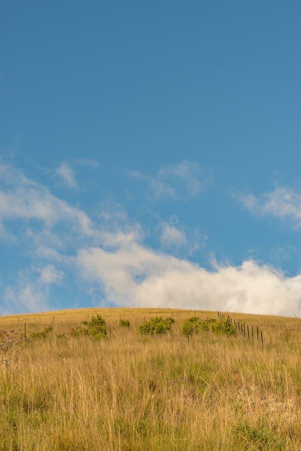 Widok wzgórze i niebieskie niebo obraz stock