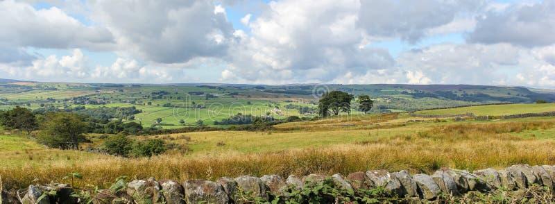 Widok Yorkshire doliny blisko Summerbridge, North Yorkshire fotografia royalty free