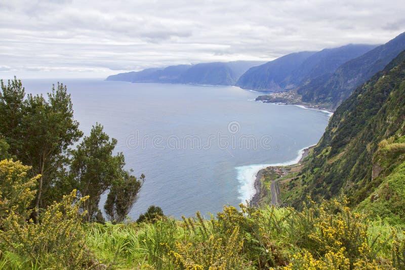 Widok z Eira da Achada na Maderze zdjęcie stock