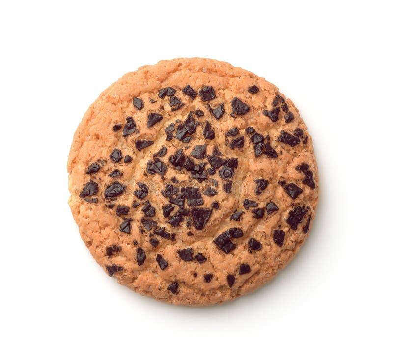 Widok z góry ciasteczek czekoladowych fotografia stock