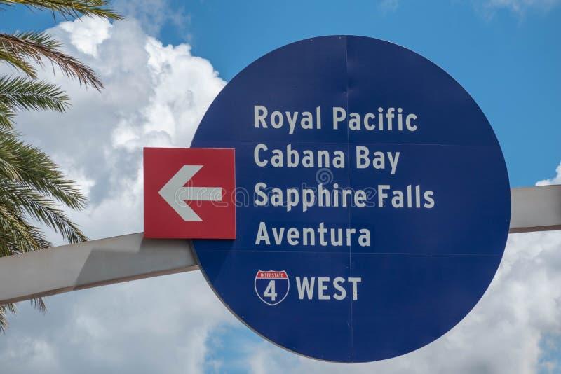 Widok z góry na Royal Pacific, Cabana Bay, Saphire Falls i Aventura na Uniwersalnym Obszarze Studios 66 obrazy stock