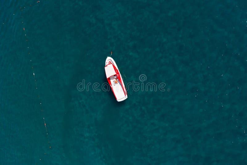 Widok z lotu ptaka łódź zdjęcia stock