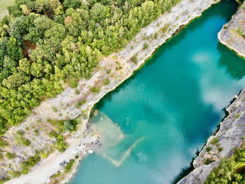 Widok z lotu ptaka łup Nura miejsce Sławna lokacja dla świeża woda nurków i czasu wolnego przyciągania obrazy stock