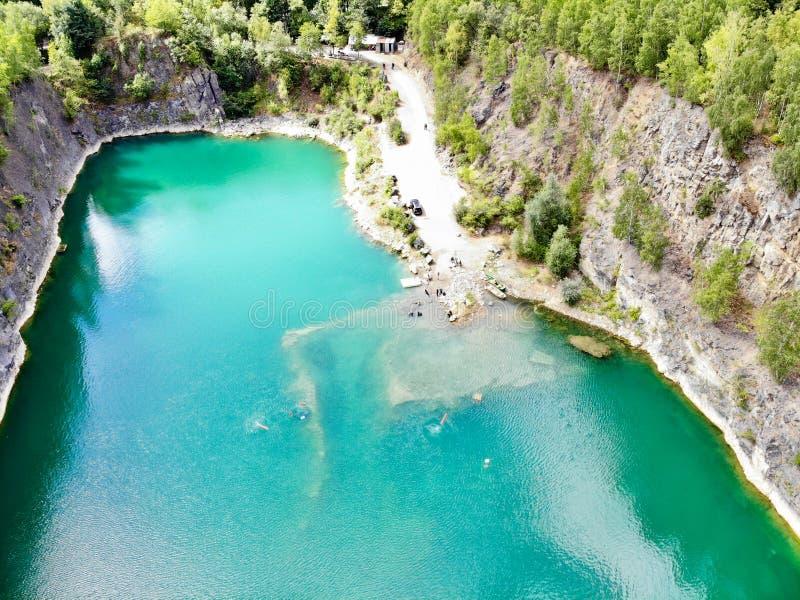 Widok z lotu ptaka łup Nura miejsce Sławna lokacja dla świeża woda nurków i czasu wolnego przyciągania obraz royalty free