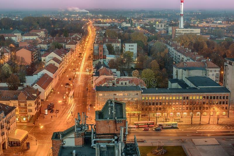 Widok z lotu ptaka śródmieście w Klaipeda, Lithuania obraz royalty free