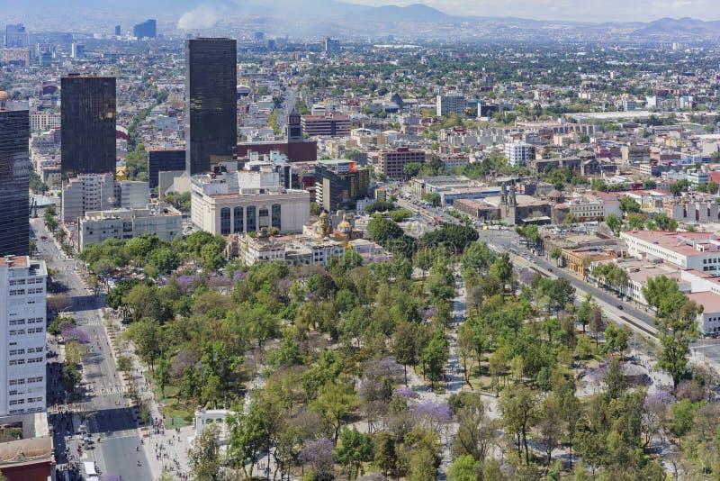 Widok z lotu ptaka Środkowy Alameda park fotografia stock