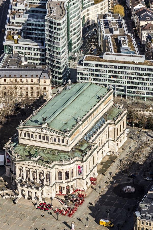 Widok z lotu ptaka: alte Oper obraz royalty free