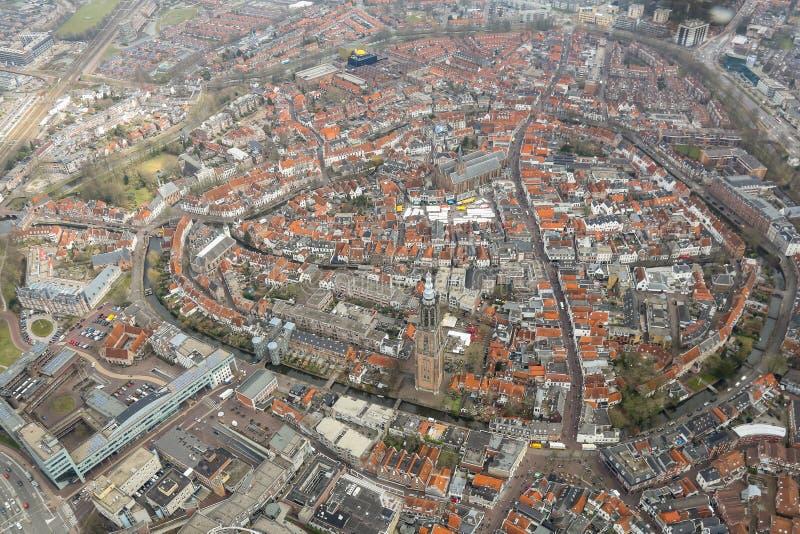 Widok z lotu ptaka Amersfoort historyczny centre zdjęcie stock