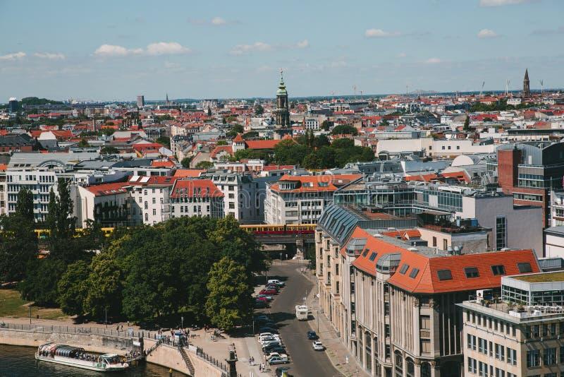 widok z lotu ptaka architektura Berlin, Niemcy fotografia royalty free