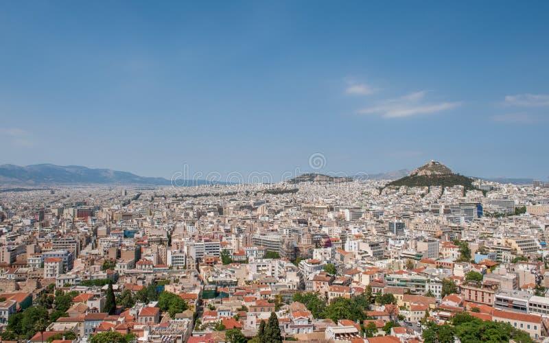 Widok z lotu ptaka Ateny zdjęcia royalty free