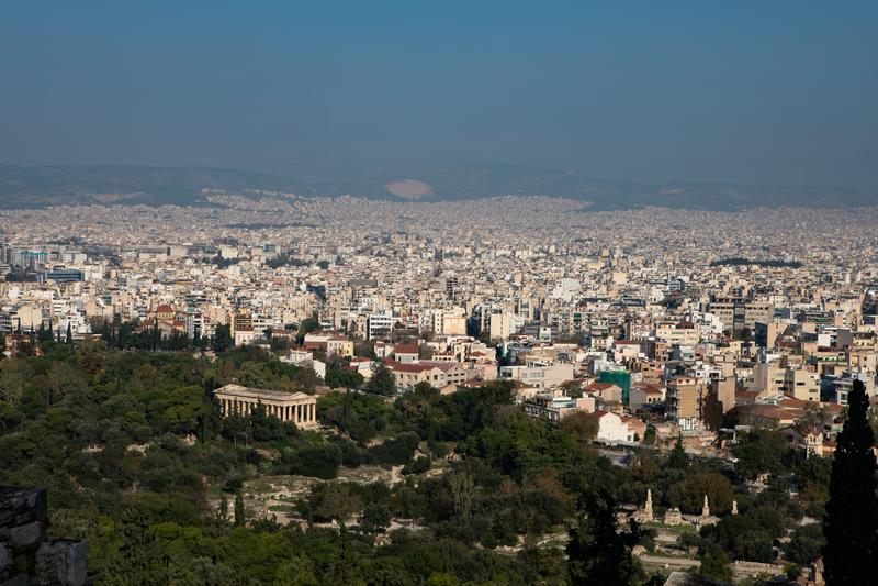 Widok z lotu ptaka Ateny, Grecja obraz stock