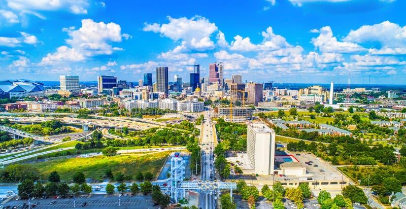 Widok Z Lotu Ptaka Atlanta, Gruzja, usa linia horyzontu zdjęcie stock