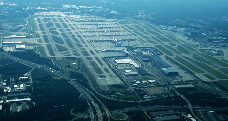 Widok Z Lotu Ptaka - Atlanta Jackson lotnisko międzynarodowe obraz stock