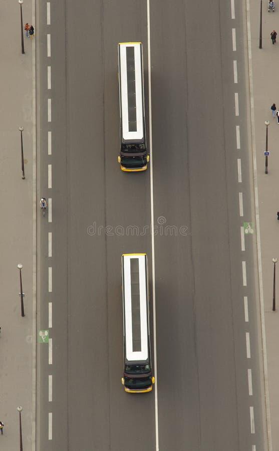 Widok z lotu ptaka autobus obrazy stock