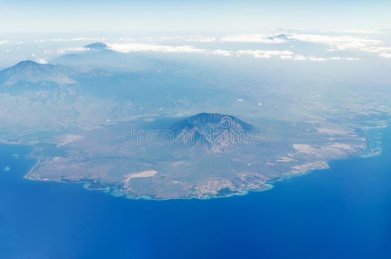 Widok z lotu ptaka baluran park narodowy w Java Indonesia fotografia stock