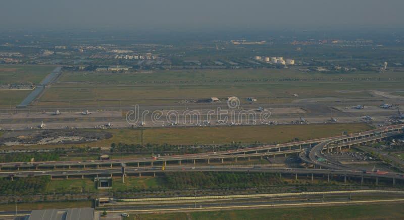 Widok z lotu ptaka Bangkok wieś obrazy stock