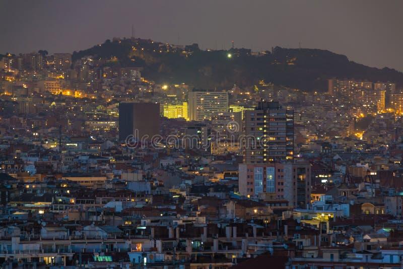 Widok z lotu ptaka Barcelona miasto, Hiszpania zdjęcia stock